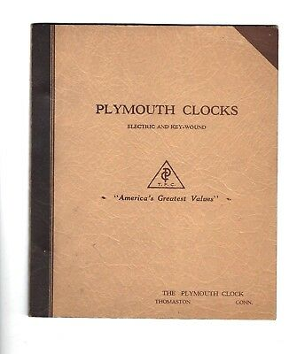 PLYMOUTH CLOCKS SETH THOMAS Electric Key Wound Catalog Circa 1940's Banjo 8-Day