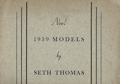 1939 SETH THOMAS New Clocks Catalog Yukon Capstan Stellar Proctor