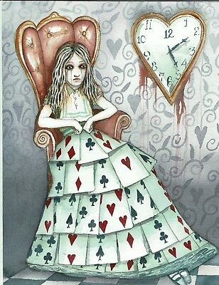 Dominic Murphy Original Art Watercolour Alice in Wonderland Alice