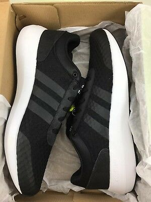 uk availability 89d4a cfa88 Adidas NEO Cloudfoam Race Mens US Size 10 Black Running Shoes Lace Up New