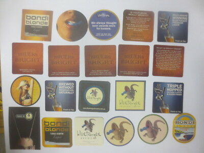 "21 different BLUE TONGUE BREWERY Issue  COASTERS "" BEER NO MORE "", GONE"
