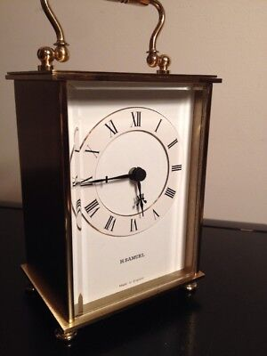Vintage Carriage Clock By Weiss For H Samuel Quartz Battery Movement