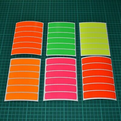 Fluorescent Strip Stickers for Safety,  Hi-vis High Visibility - 10mm