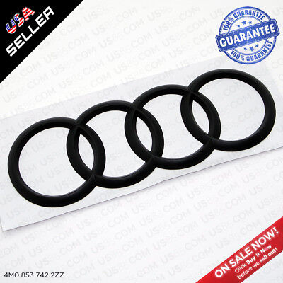 AUDI Q7 Trunk Luggage Lid Rings Badge Logo Emblem Decoration 4M0 - Matte Black