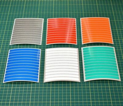 12 Reflective Strips Stickers for Motorbike Cycle Safety Hi-vis High Visibility