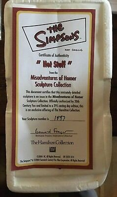 The Simpsons Misadventures Of Homer Hot stuff /1997 rare. Unopened package.