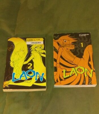 LAON Manga set of 1 and 2, Very Good condition, English Horror, Mystery genre