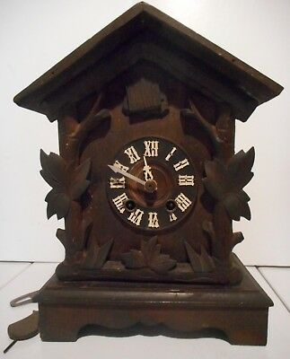 Antique German Shelf Cuckoo Clock Compleat Good Running