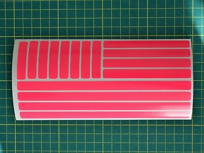 Fluorescent Strip Stickers for Motorbike Cycle Safety - Hi-vis High Visibility