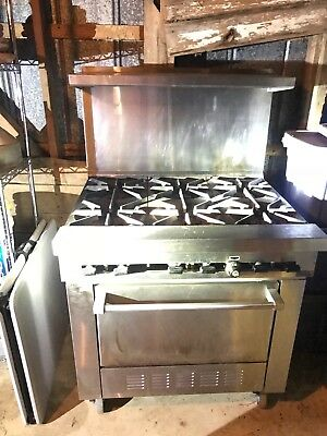 SunFire 6 Burner Commercial Gas Range and Oven-propane. excellent condition.