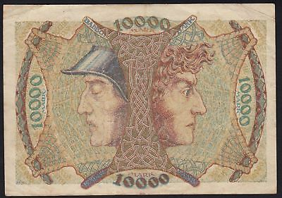1923 10000 Mark Mannheim German State Baden Rare Vintage Paper Money  Banknote