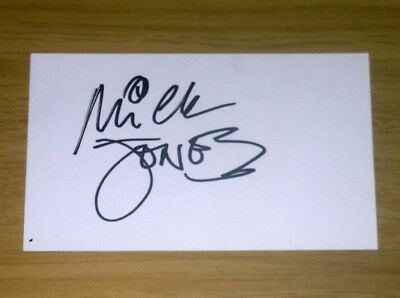 MICK JONES The Clash signed autographed 3x5 card AUTOGRAPH