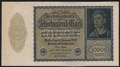 1922 Germany 10000 Mark XF Rare Vintage Banknote Money Bill Note Currency old