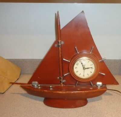 Vintage Electric Clock Ship Form Nautical United Clock Corp.