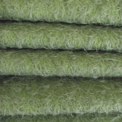 "1/4 yd 300S/CM Antique Sage INTERCAL 1/2"" UltraSparse Curly Matted Mohair Fabric"