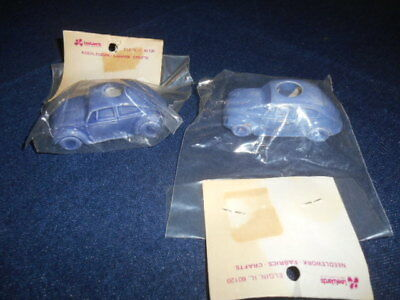 Pair Nos Vintage Volkswagen Vw Bugs Beetle Ceramic Macrame Craft Lee Wards