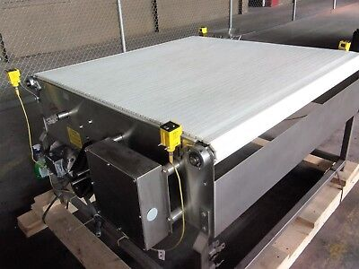 Keenline Stainless Steel Sanitary Pack Off Conveyor 51 Inches X 51 Inches Nice