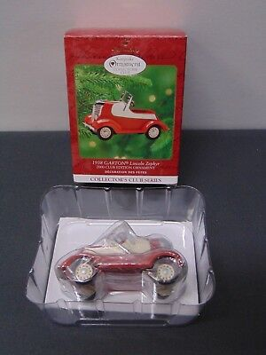 Hallmark 2000 Club Edition Ornament ~ 1938 Garton Lincoln Zephyr ~ S1