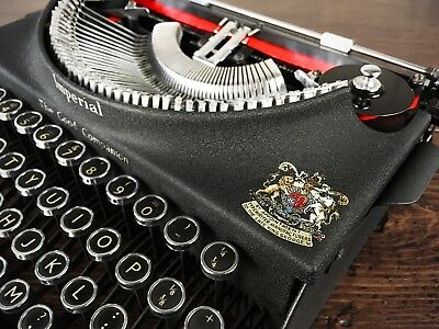 STUNNING 1930s IMPERIAL 'GOOD COMPANION' PORTABLE TYPEWRITER, REFURBISHED, LOOK