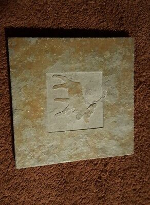 "Moose Slate gray Trivet  3 3/4"" Square"