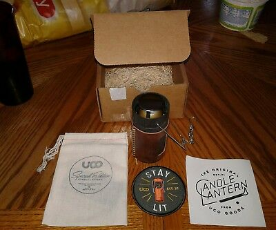 Collectible Leather UCO Latern Special Edition RARE! (#34 of 2000)Original Box!!