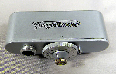 Voigtlander Shoe Mount Accessory Rangefinder w/ Original Leather Case. Exc+