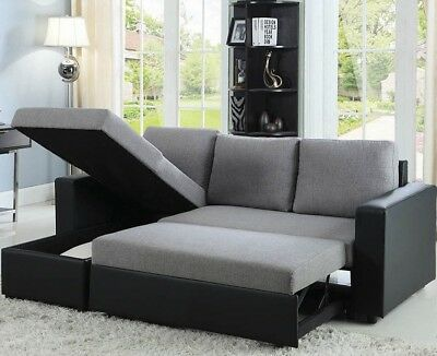 Strange Abbyson Newport Upholstered Sleeper Sectional With Storage Alphanode Cool Chair Designs And Ideas Alphanodeonline