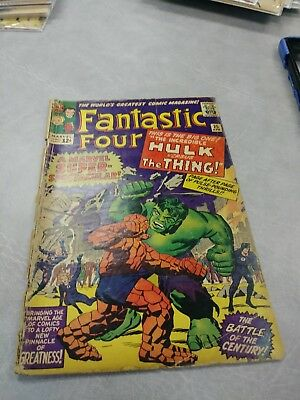 FANTASTIC FOUR #25 HULK VS THING 2nd CAP APPEARANCE IN SILVER AGE!