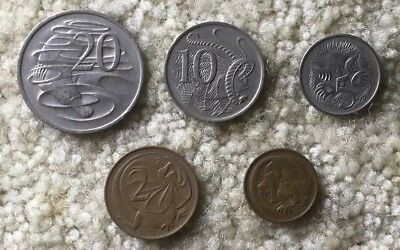 Australian Coins Type Set Km #65 Circulated Condition Great Coins Beautiful Set
