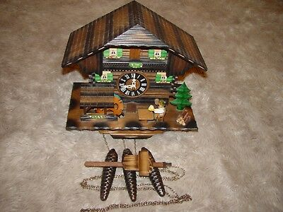 Black Forest vintage beer drinker musical cuckoo clock