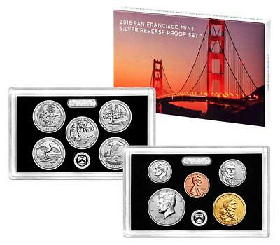 *NEW>US MINT! 2018-S Silver San Francisco Mt Silver Rev Proof (2x5=10 Coin Sets)