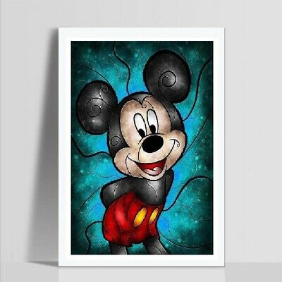 UK Color Mickey Full Drill DIY 5D Diamond Embroidery Painting Cross Stitch MA