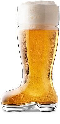 Beer Glasses Circleware Das Boot Design Huge 1 Liter Capacity In Clear Durable