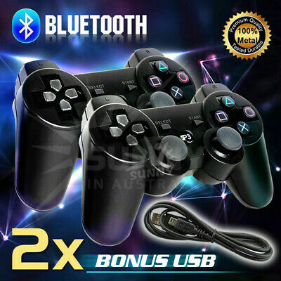 2pcs Wireless Bluetooth Game Remote Control Controller Joystick Joypad for PS3