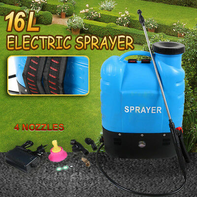 16L Electric Weed 12V Backpack Sprayer Rechargeable Farm Garden Pump Spray