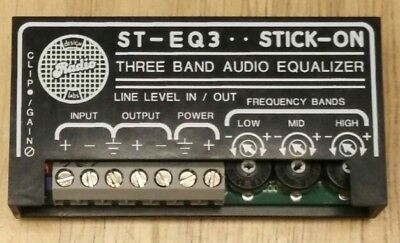RDL ST-EQ3 STICK-ON Line Level 3-Band Audio Equalizer FREE SHIPPING