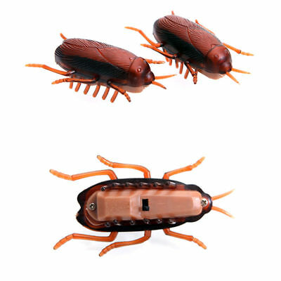 Funny Electronic Cockroach Pet Cat Puppy Kitten Interactive Training Play Toy T
