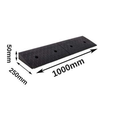 1m Rubber Wheelchair Access Ramp 50mmH Driveway Ramps Kerb Ramp w/ Fixing Bolts