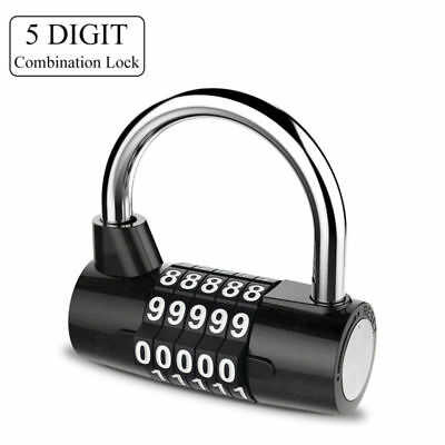 3 Digit Resettable Combination Padlock Coded Lock School Gym Locker Sheds G*HWC