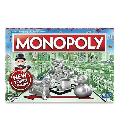 Original Monopoly Fun Board Hasbro Classic Edition Traditional Family Game US