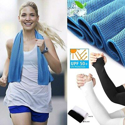 Unisex Cooling Arm Sleeves Cooling Breathable Chilly Towel Fr Yoga,Sport,Running