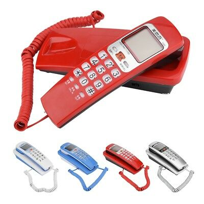 Wall Mount Landline/Corded Desktop Telephone Button DTMF Phone for Home Office