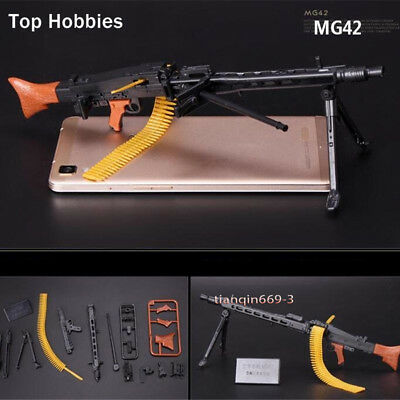 "1: 6 World War II Soldier Weapon MG42 Machine Gun Model Fit 12""Action Figure Toy"