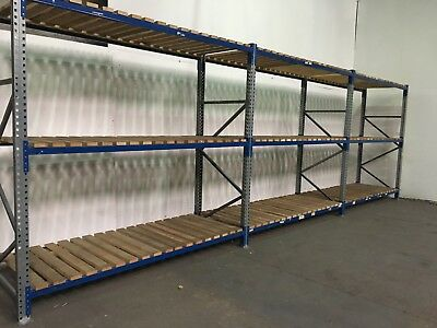 Pallet racking, Longspan Shelving, Industrial warehouse racking, 3 joined bays