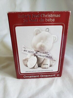 2008 ~ American Greetings Heirloom Ornament #21, Baby's 2Nd Christmas New In Box