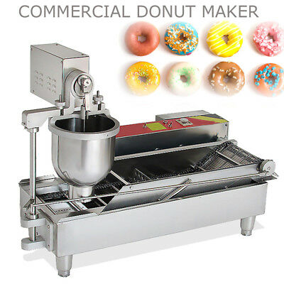 850PCS/H Commercial Electric Automatic Doughnut Donut Machine Maker Fryer 3 Mold