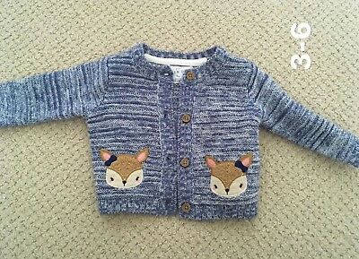 Beautiful Baby Girls Blue Cardigan Size 3-6 Months