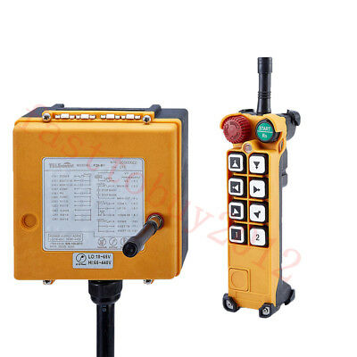 8Keys Industry Wireless Remote Control 2Speed Transmitter+Receiver Crane 65-440V