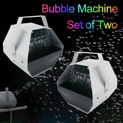 Set of 2 Bubble Machine Maker Blower 16 Wand Mini DJ STAGE HOME PARTY Blowing BP