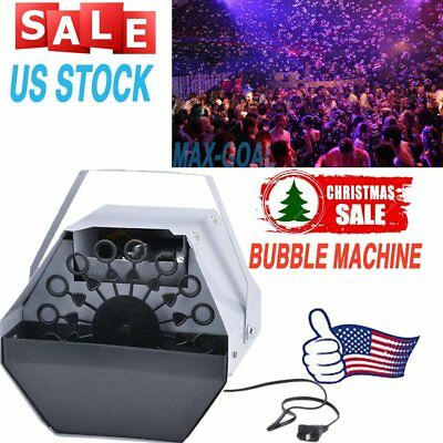Deluxe 16 Wand Automatic Bubble Machine Blower Maker Kids DJ DISCO Party NEW BP